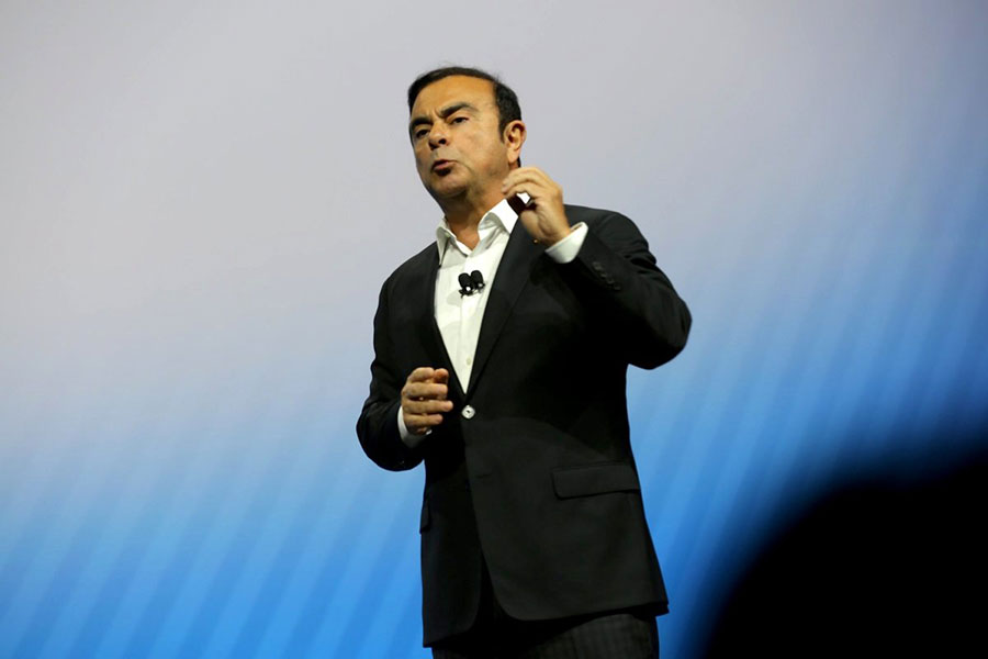 Nissan CEO Carlos Ghosn at CES 2017