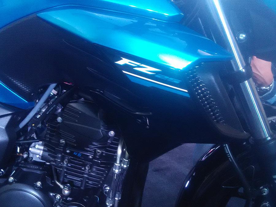 Yamaha FZ25 Closeup view of Engine
