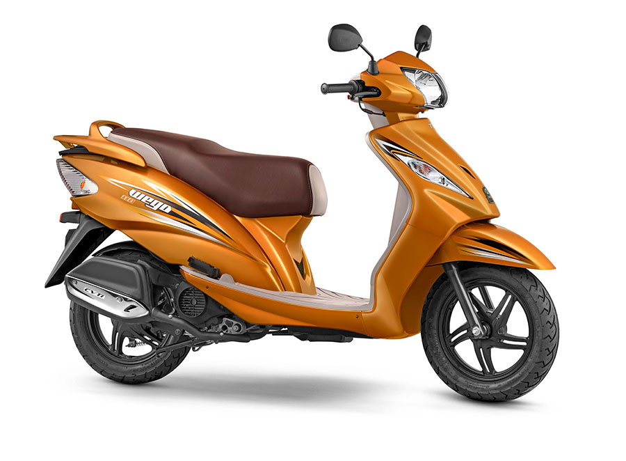 New 2017 TVS WEGO Metallic Orange Color