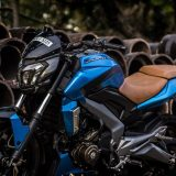 Bajaj Dominar 400 Gloss Metallic Blue Custom Wrap Photos