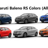 Maruti Baleno RS Colors: Blue, Orange, Red, Grey, Silver & Urban Blue