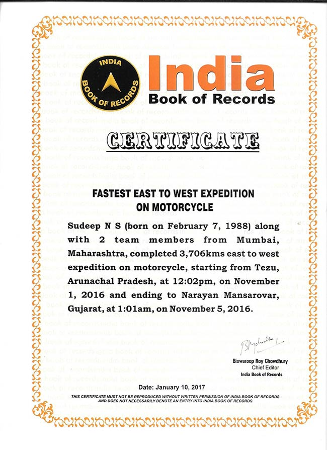 Sudeep-N-S---Certificate-from-Indian-Book-of-Records