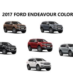2017 Ford Endeavour Colors – White, Grey, Red, Bronze, Silver, Black