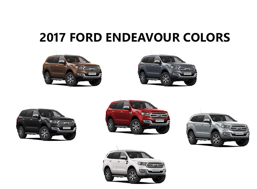2017 Ford Endeavour Colors