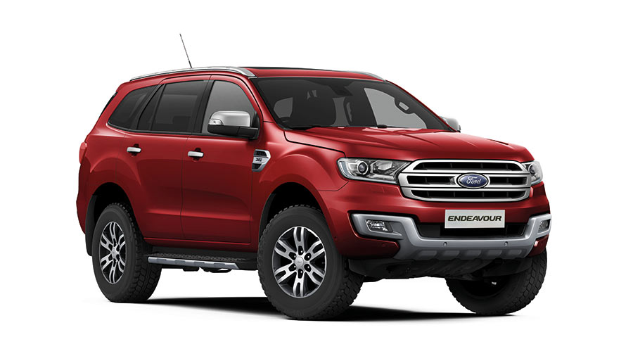 2017 Ford Endeavour Sunset Red Color Variant