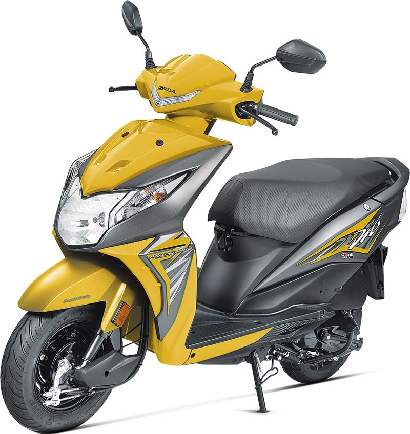 2017 Honda Dio Yellow Color Pearl Sports