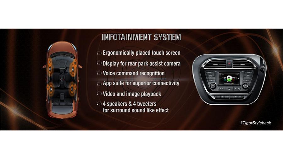 Tata TIGOR Infotainment System Details