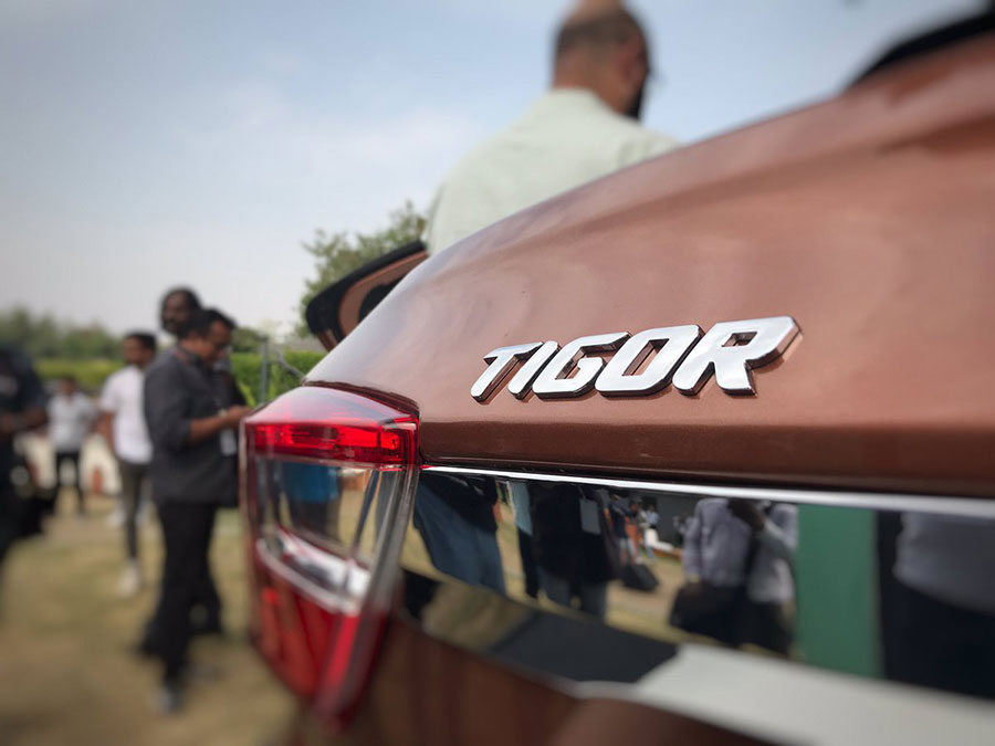 Tata TIGOR Logo on Compact Sedan Hatchback
