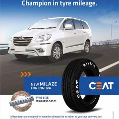 CEAT launches MILAZE Tyres for high selling Taxi SUV segment