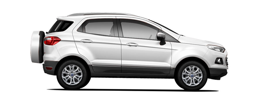 Ford EcoSport in White Color Variant