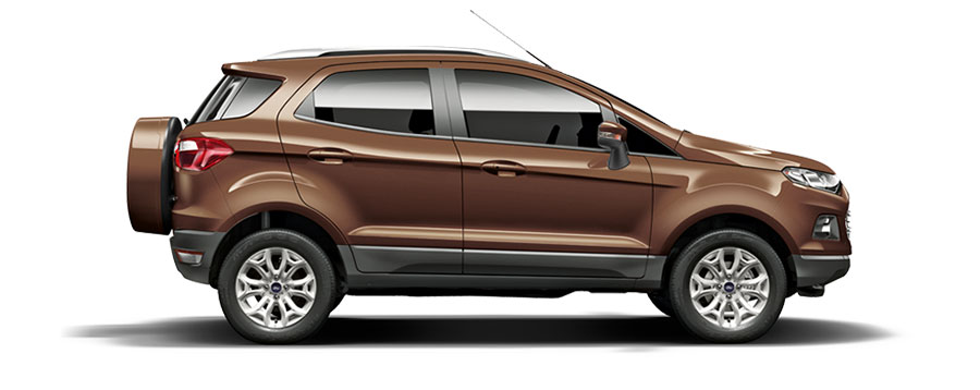 Ford EcoSport Brown Color - Golden Brown Color