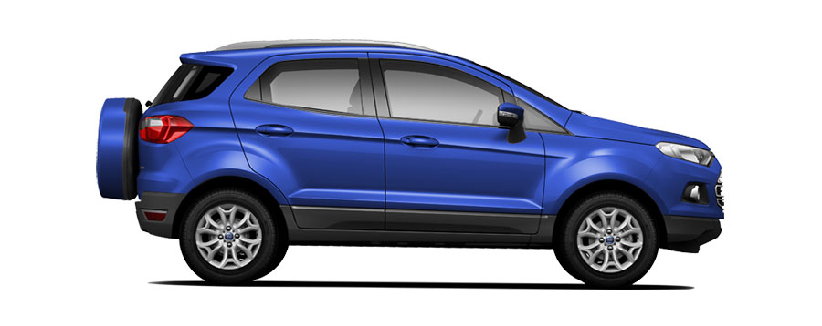 Ford EcoSport Blue Color - Kinetic Blue Color