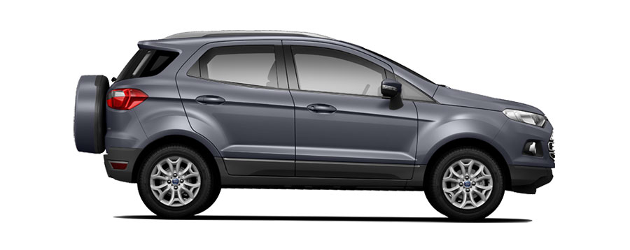 Ford Colours 2017 >> Ford EcoSport Colors - Grey, Black, Silver, Red, Blue, Brown, White - GaadiKey