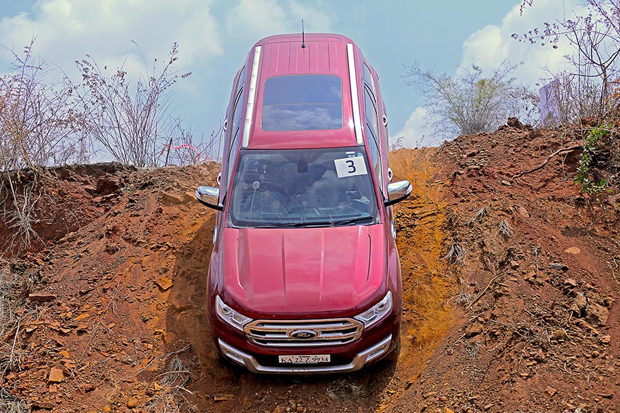 2017 Ford Endeavour Red Color