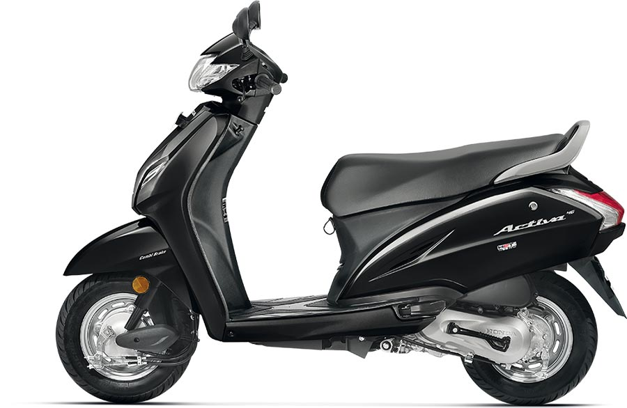 All New Honda Activa 4G Black Color - New Honda Activa 4G Color Variant