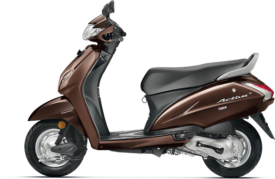 Honda Activa 4G Brown Color Photo - Majestic Brown Metallic Color