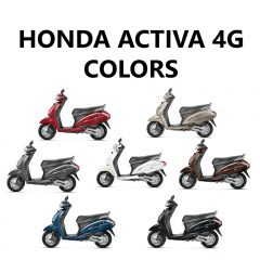 Honda Activa 4G Colors – Red, Brown, Silver, White, Blue, Grey, Black