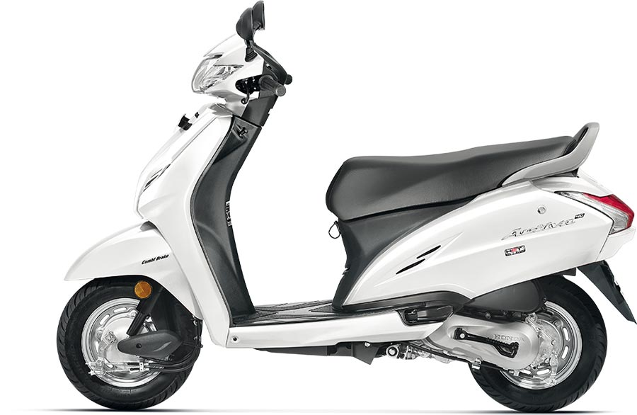 Honda Activa 4G White Color - Pearl Amazing White Color
