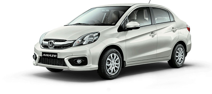 Honda Amaze White Color - Orchid White Color Variant Amaze