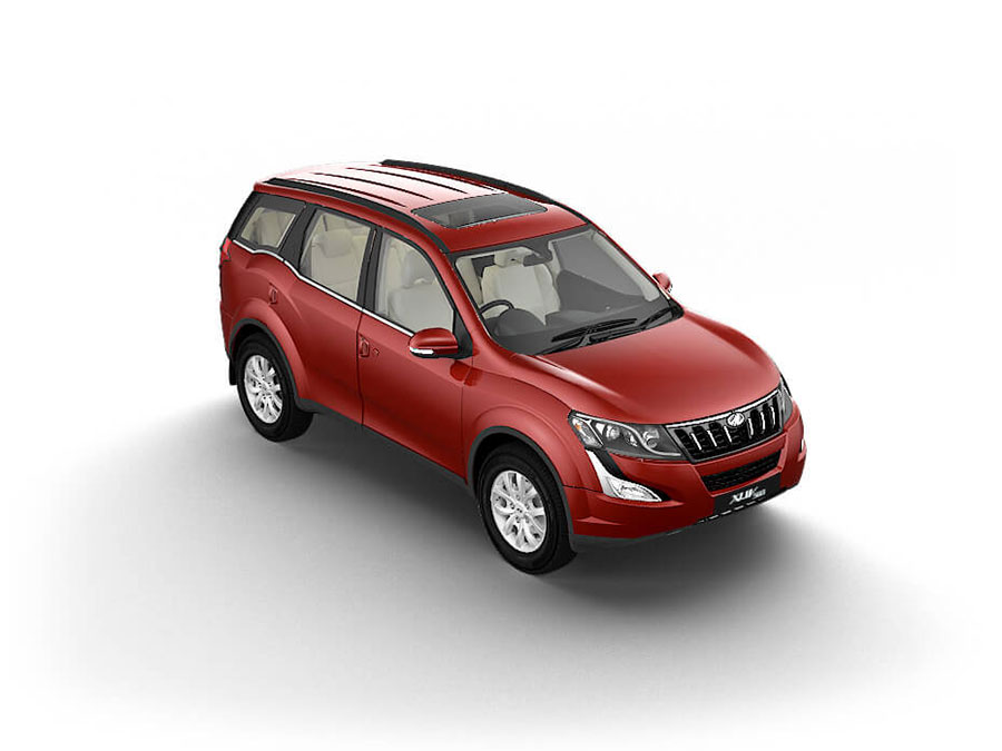 Mahindra XUV500 Coral Red Color - Mahindra XUV500 Red Color Photo