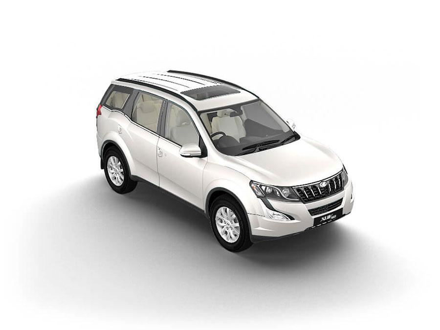 Mahindra XUV500 Pearl White Color Variant - Mahindra XUV500 White Color