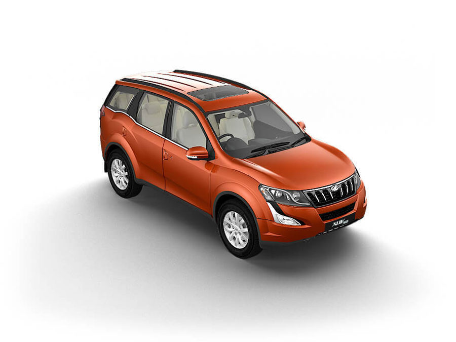 Mahindra XUV500 Orange Color - XUV500 Sunset Orange Color