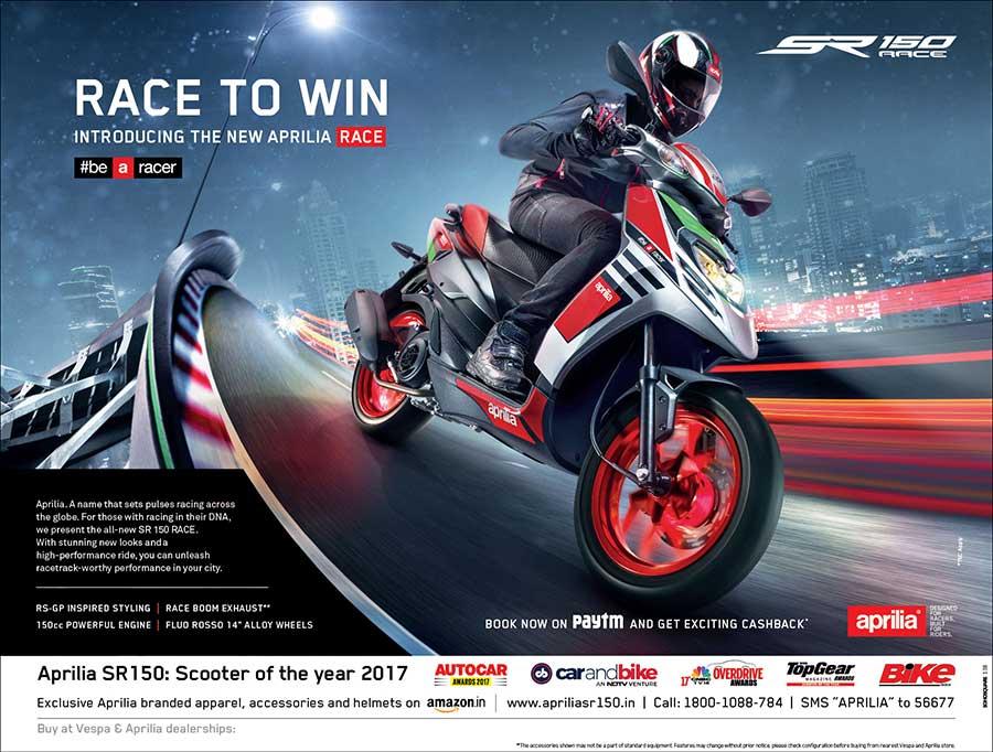 Aprilia SR150 Race Edition Campaign
