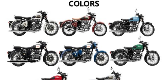 Royal Enfield Classic 350 Colors: Black, Lagoon, Blue, Chestnut, Red, Silver, Ash, Green