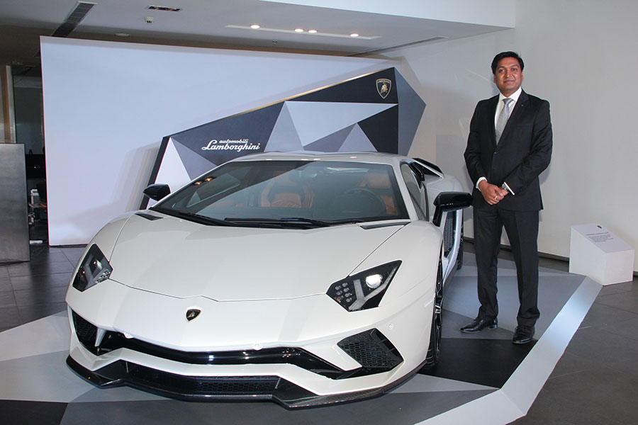 Sharad-Agarwal,-Head,-Lamborghini-India-at-the-launch-of-the-new-Aventad...