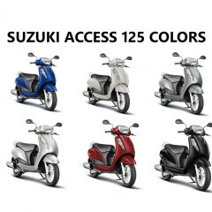 Suzuki Access 125 Colors: White, Red, Gray, Blue, Silver, Black