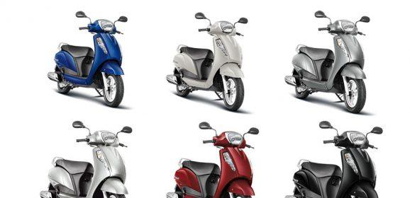 Suzuki Access 125 Colors: White, Red, Gray, Blue, Silver, Black