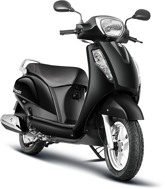 Suzuki Access 125 Black Color Glass Sparkle Black Color Photo