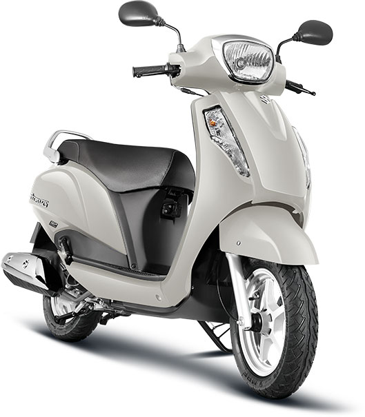 Suzuki-Access-125-Pearl-Mirage-White-Color---Suzuki-Access-125-White-Color-Photo