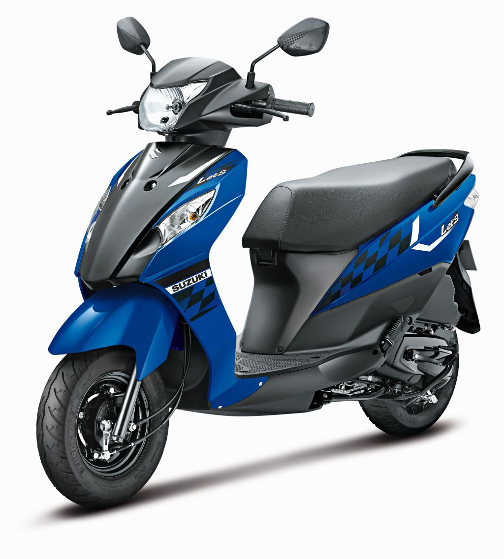 Suzuki Lets BS4 Engine - Suzuki Lets Blue Color