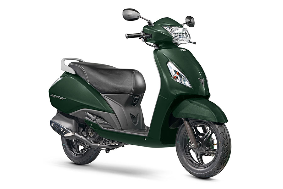 2017 TVS Jupiter Green Color - Jupiter Jade Green Color Variant