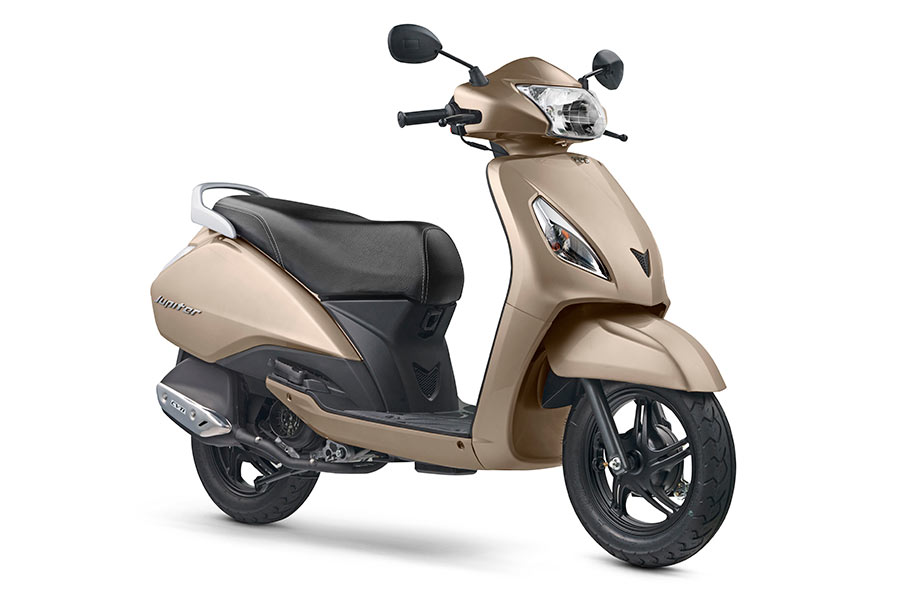 2017 TVS Jupiter Gold Colver - TVS Jupiter in Mystic Gold Color Variant