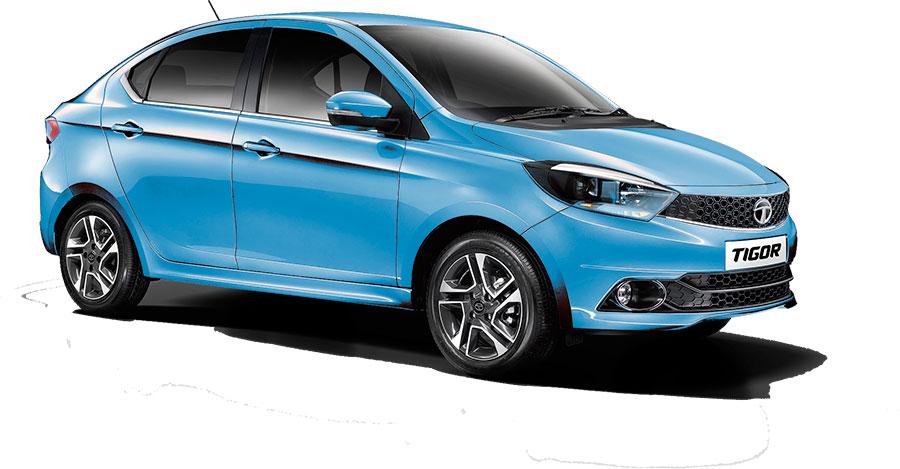 Tata TIGOR Blue Color - TIGOR Striking Blue Color Variant
