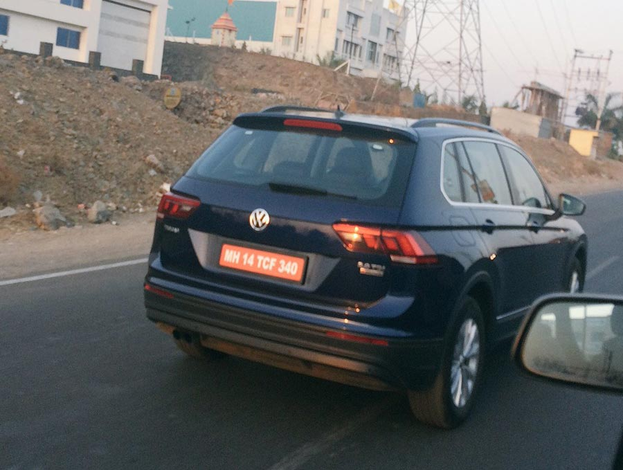 Volkswagen Tiguan Spotted Testing in India