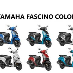 Yamaha Fascino Colors: Blue, Red, Cyan, White
