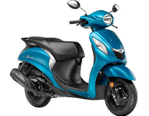 Yamaha Fascino Cyan Color - Fascino in Sassy Cyan Color Variant