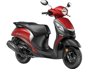 Yamaha Fascino Red Color - Yamaha Fascino Fusion Red Color variant