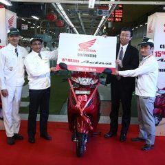 1.5 Crore units of Honda Activa Sold in India