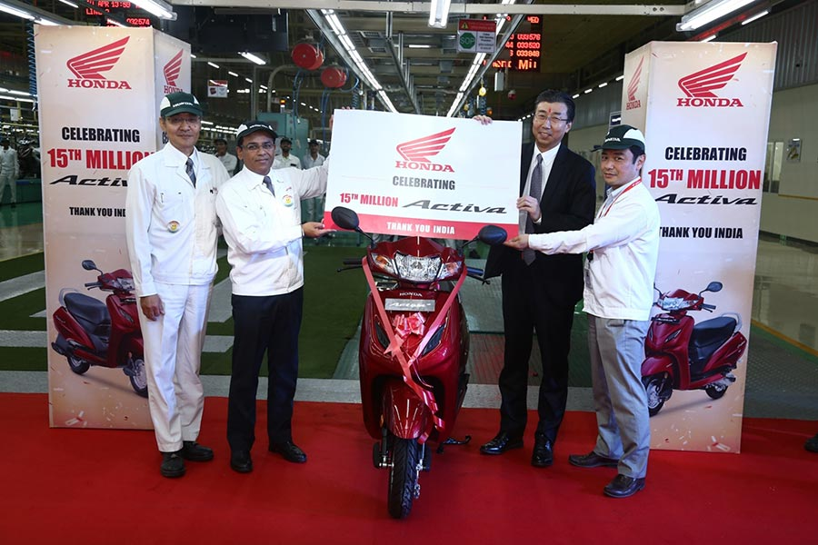 Honda Activa 15th Millionth Bike Sold