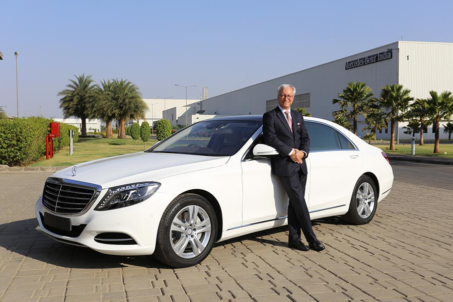 Mercedes-Benz-2-Mr.-Roland-Folger,-MD-and-CEO,-Mercedes-Benz-India-with-the-S-Class-'Connoisseur's-Edition'