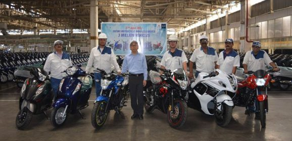 Suzuki Two Wheelers rolls out 3 Millionth vehicle