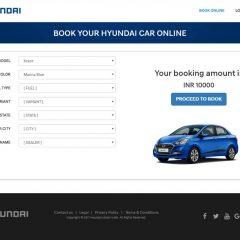 Hyundai India Opens Online Car Booking