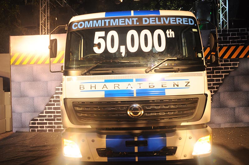 BharatBenz 50000 units delivered