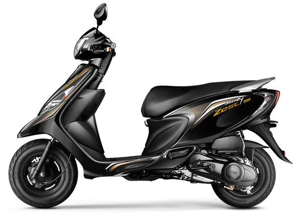 TVS Scooty Zest Daring Black Color variant