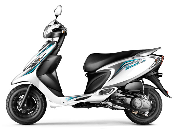 TVS Scooty Zest 110 Dynamic White Color variant