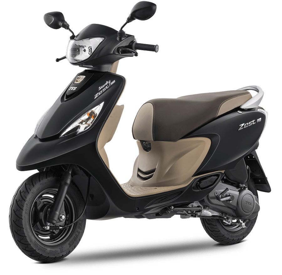 TVS Scooty Zest Matte Black Color